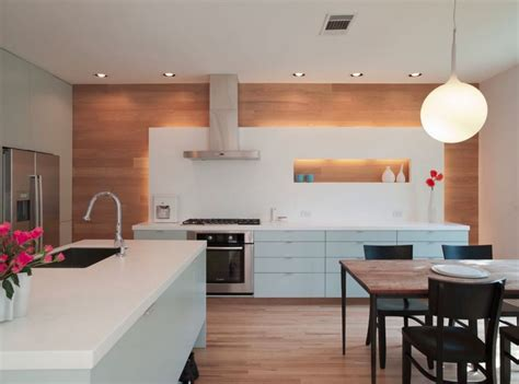 modern island kitchen design using wood panelling 20 rooms with modern wood paneling