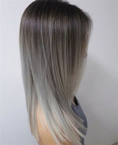silver and brown hair style silver and grey ombre balayage hair hairstyles cuts and