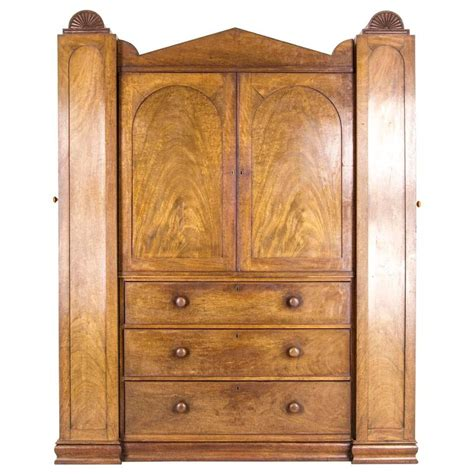 linen armoires antique scottish regency armoire wardrobe linen press