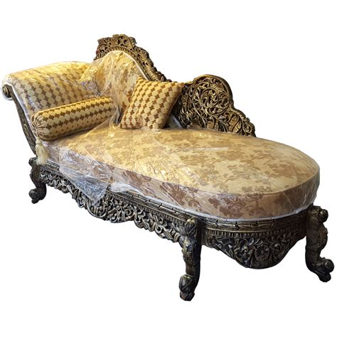 Chaise Settee Half Back Solid Rosewood Handcarved Chaise Longue Dewan