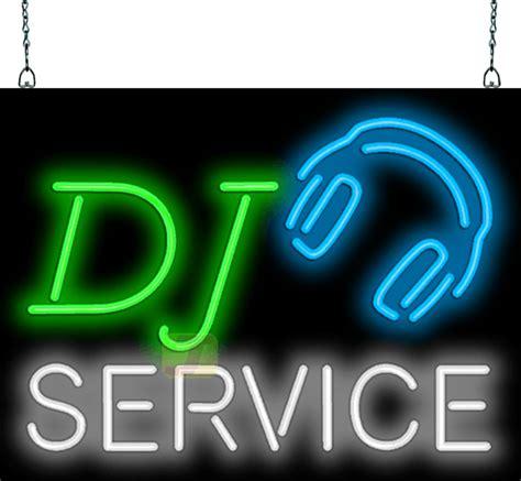 dj service neon sign mg   jantec neon