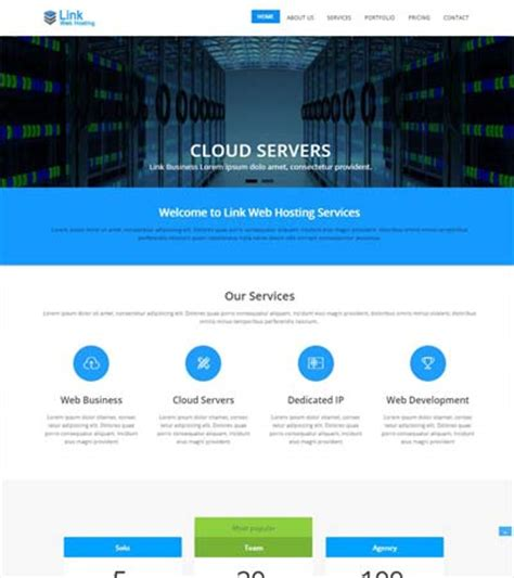 latest hosting website templates