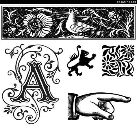 typography ornaments font ornaments