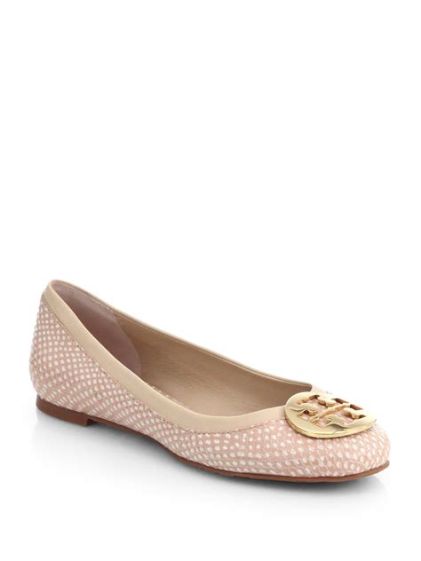 Trend Report Burch Reva Flats Are Going To Be This Second City Style Fashion by Burch Reva Polka Dot Snakeskin Ballet Flats In Pink