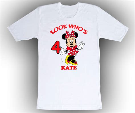 Minnie White T Shirt minnie mouse personalized white birthday shirt t shirts