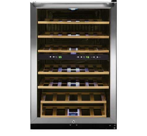 frigidaire 34 bottle wine cooler frigidaire 38 bottle two zone wine cooler stainless steel