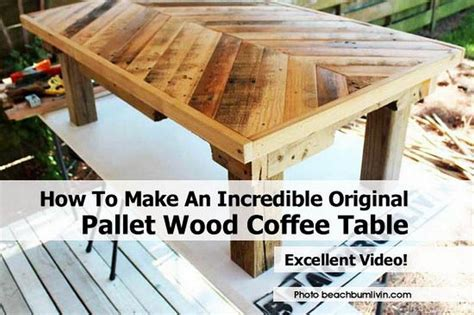 how to make an original pallet wood coffee table