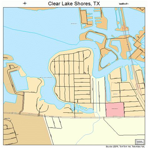 clear lake texas map clear lake shores texas map 4815328