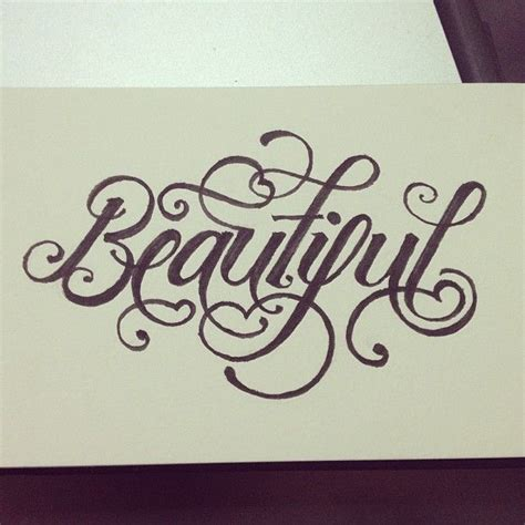 tattoo font young and beautiful beautiful lettering calligraphy typography type