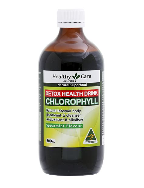 Liquid Chlorophyll Liver Detox by Healthy Care Liquid Chlorophyll Detox Drink Spearmint 500ml