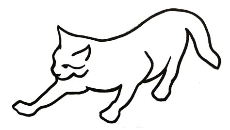 how to draw doodle lines picture of line drawing cats clipart best