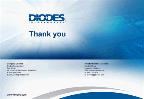 diodes finance diodes inc form 8 k ex 99 2 may 27 2010
