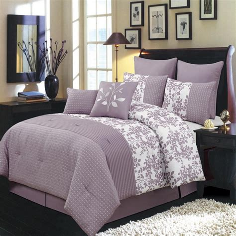 bliss purple luxury 8 piece comforter set king size
