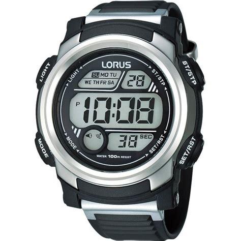 Thalea Digital Sport Wristwatch lorus r2313gx9 s black silver digital sports r2313gx9 watches from