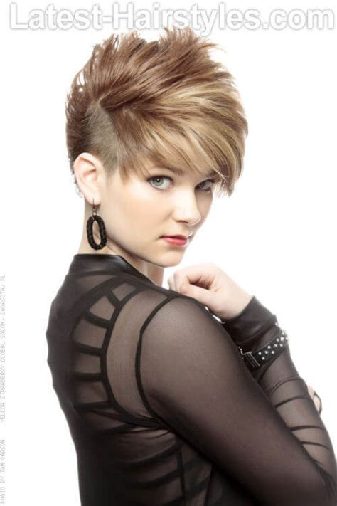 side view of asymmetric hairstyles 39 short hairstyles for round faces you can rock