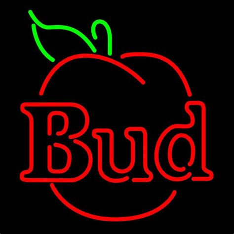bud light apple where to buy 2442 best neon signs images on neon lighting
