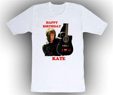 T Shirt Bonjovi 2 personalized jon bon jovi birthday t shirt gift 2 t shirts