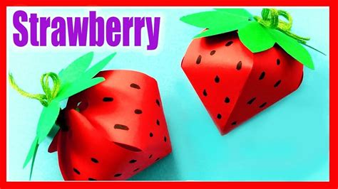 How To Make A Paper Strawberry - strawberry paper craft how to make diy paper strawberry