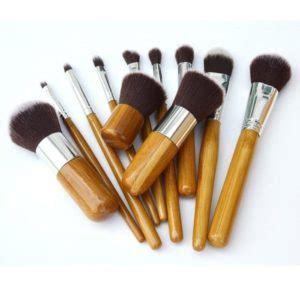 kuas make up bamboo kabuki 11 pcs grosir cirebon