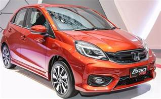 honda brio new honda brio rs hatchback showcased at 2016 indonesia