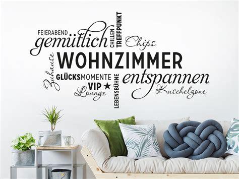 Wandtattoo Wohnzimmer by Wandtattoo Wohnzimmer Wortwolke Klebeheld 174 De