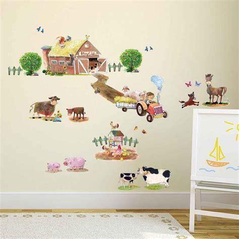 Kinderzimmer Gestalten Junge Traktor by Wandsticker Ponyhof Bauernhof Tiere Wandsticker Kinderzimmer