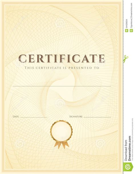 scroll certificate templates certificate diploma background template pattern stock