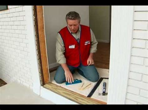 how to install new front door how to install a pre hung exterior door