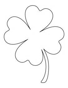 Clover Template by Four Leaf Clover Outline Cliparts Co