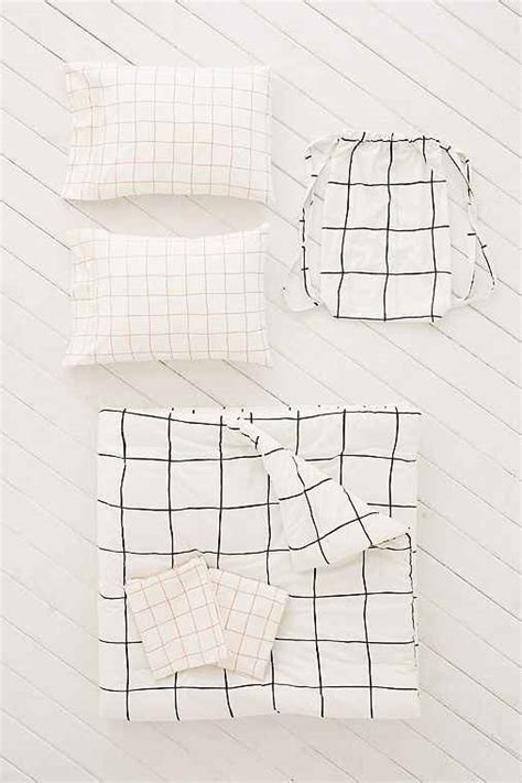 grid pattern comforter wonky grid comforter snooze set urban outfitters