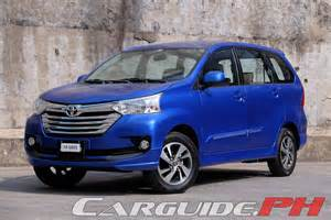 Toyota Avanaza Review 2016 Toyota Avanza 1 5g A T Carguide Ph