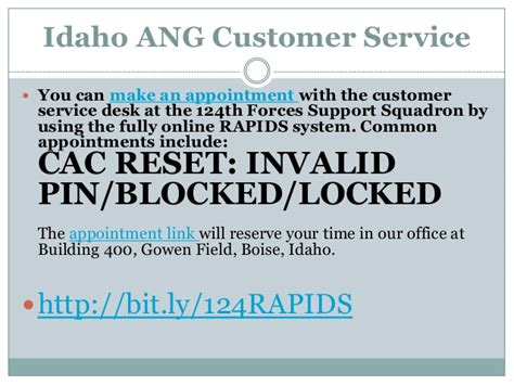 Idaho Air National Guard Rapids Customer Service Fy2014