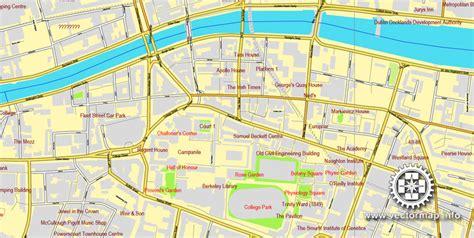 printable map dublin city centre dublin ireland printable vector city plan map v 2 full