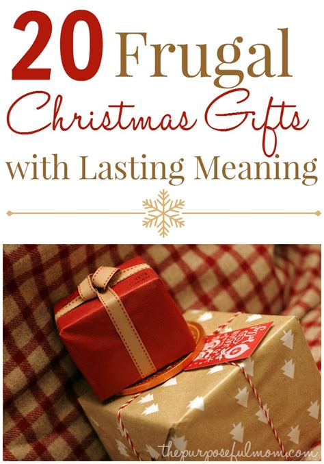 20 frugal christmas gifts with lasting meaning the