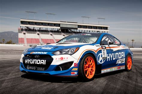 genesis drift car hyundai shows millen s updated for 2013 genesis coupe