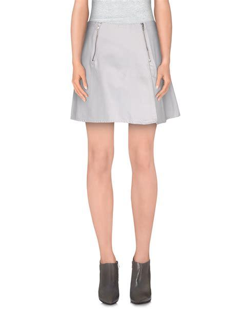 acne denim skirt in gray lyst