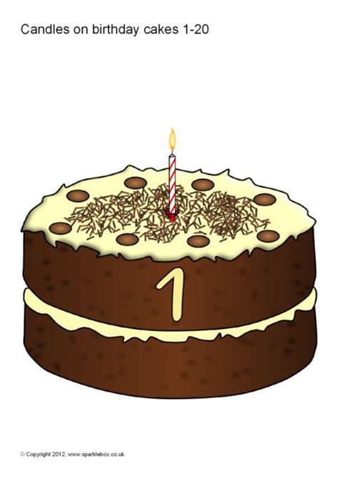 numbers    birthday cakes sb sparklebox