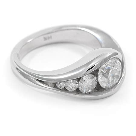 contemporary engagement ring w low profile wixon jewelers