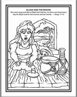 elijah and the widow of zarephath coloring page kidco labs resources downloads coloring sheets