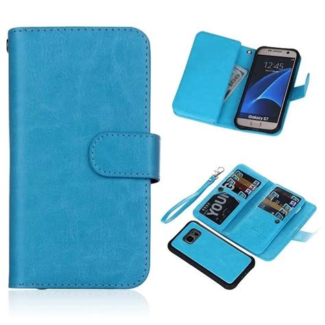 Samsung S7 Wallet Leather With 9 Card Slot 2in1 Magnet Dompethp brg samsung galaxy s7 9 card slot 2 in 1 detachable