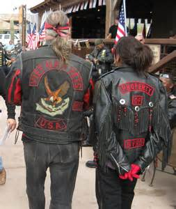 motorcycle club colors vets symbols and on