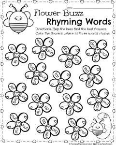 year 1 literacy pattern and rhyme kindergarten math and literacy worksheets for february
