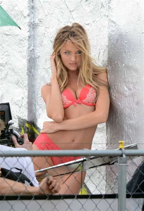 secret commercial photographer actress candice swanepoel at a vs commercial photoshoot in miami