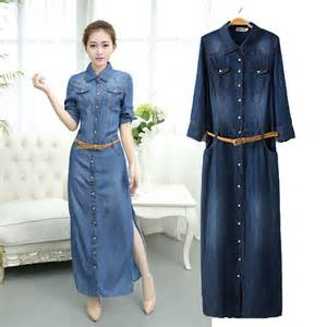 popular plus size blue jean dress buy cheap plus size blue