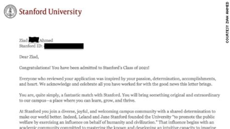 Common App Essays That Got Into Stanford by Student Gets Into Stanford After Writing Blacklivesmatter On Application 100 Times Cnn