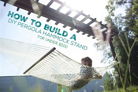 how to a to stand how to build a diy pergola hammock stand in a weekend for 200