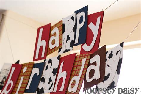 free printable birthday banner toy story happy birthday banner toy story style oopsey daisy