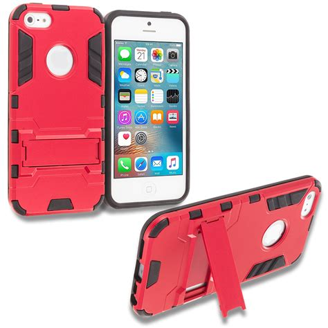 hybrid transformer armor slim shockproof cover kickstand for apple iphone 5 5s se