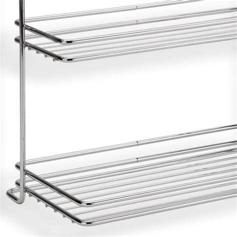 mensola in acciaio mensola due piani applicabile alla barra da cucina