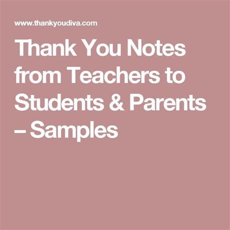 thank you letter to parents of students 25 unique sle thank you notes ideas on